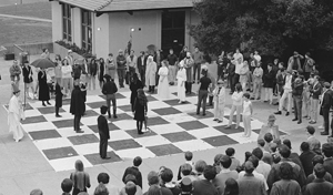 Cowell College human chess game, 1967