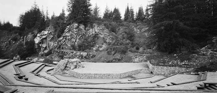 Quarry Amphitheater circa 1966 (photo by Brandeis Photography)